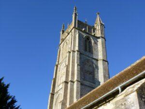 The 15th Century tower with gargoyles